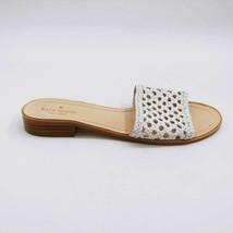 Kate Spade New York Womens Berlin Slide Sandals White Woven Leather Slip Ons 9 M - $34.64
