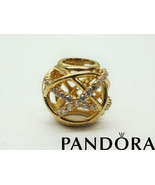 Pandora Diamond Openwork 14k Yellow Gold Charm - $399.00