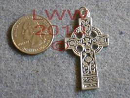 Pewter Celtic Cross Necklace Pendant- New - $6.90