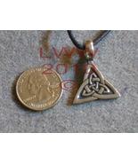 Eternal Balance Celtic Knot Triquetra Amulet Pendant Necklac - $5.85