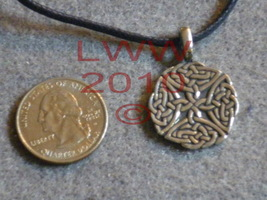 Pewter Celtic Elemental Quarter Knot Amulet Pendant Necklace - $5.85