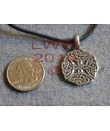 Pewter Celtic Elemental Quarter Knot Amulet Pendant Necklace - $5.85