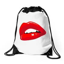 Lips Red Kiss Passion Girl Drawstring Bags - $30.00
