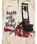 Alesana Zip Up Hoodie Women's XXL White Guillotine Head Chop Metal Emo M... - $64.99
