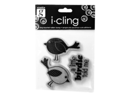 Studio G i-cling A Little Birdie Rubber Cling Stamp Set #IC0002 - $3.99