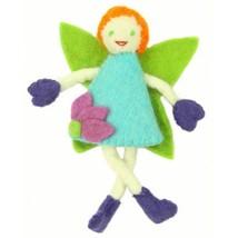 Handmade Felt Tooth Fairy Doll - Red Hair Green Eyes - $23.74
