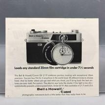 Vintage Rivista Ad Stampa Design Pubblicità Canon Bell & Howell Fotocamera - $29.94