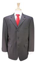 * BURBERRY * London Kensington Gray/Gold Woven 3-Btn Wool Suit 42S - $122.50