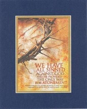 We Have all Sinned Against God - Act 4:12. . . 8 x 10 Inches Biblical/Religio... - $10.95