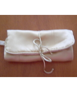 Jewelry Carry All Roll By Fabric Ring Bar Earring strap Zippered Pocket ... - $19.99