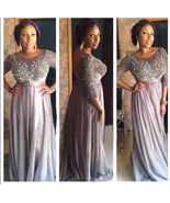 Sexy  Long Sleeve Lace Beaded Formal Prom Dress Arabic Mother Of the Bri... - $145.00