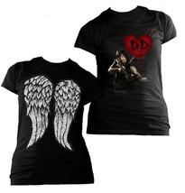 Ladies Walking Dead Daryl Dixon Heart Wings Official Tee T-Shirt Womens ... - $24.99