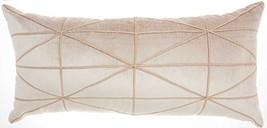 "Inspire Me Home Décor Embellished Criss Cross Throw Pillow, 14 x 30"", Beige - $60.24"