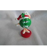M & Ms Miss Green Girl Candy Tube Topper Christmas Ornament 3 Inches Tal... - $4.99