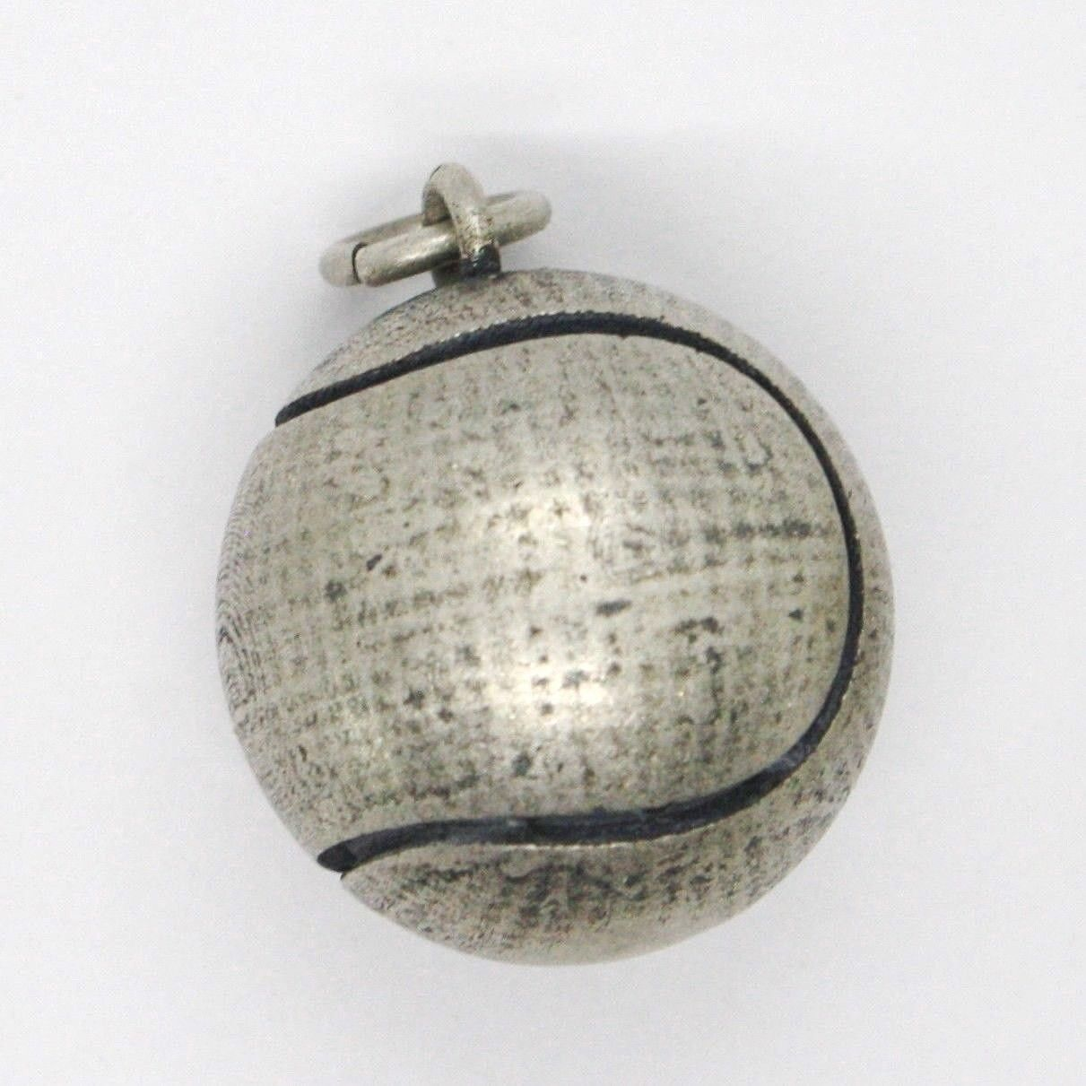 Silver 925 Pendant, Burnished and Satin,Ball Tennis