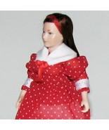 Dollhouse Dressed Lady Doll Erna Meyer 8775 Porcelain Head Plaid Gown Mi... - $135.00