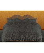 LinensnCurtains Carbon Grey Ruffle Style Duvet Cover Set 3pc - $169.00+