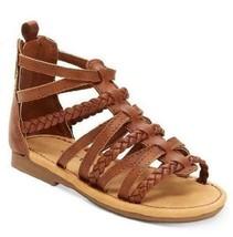 Carter's Smile2 Kids Sandals Brown Dress Shoes Gladiator Infant/Toddler ... - $12.95