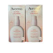 (2) Aveeno Ultra-Calming Daily Moisturizer SPF 15 120 ml 4 oz Each 2/2022 - $34.64