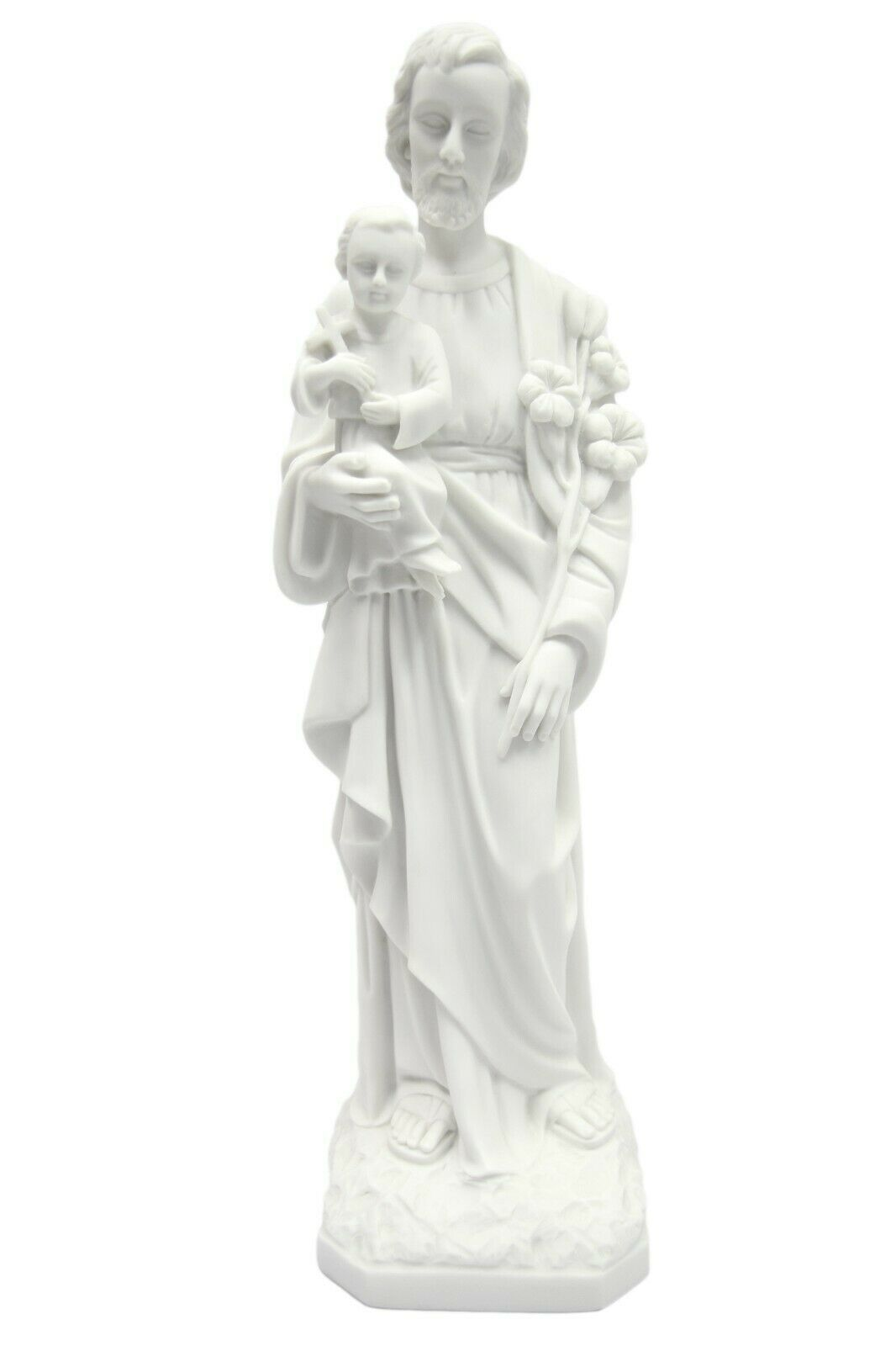 "Primary image for 19"" Saint St Joseph with Baby Jesus Child Catholic Statue Vittoria Made in Italy"
