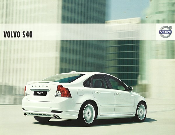 2009 Volvo S40 sales brochure catalog 09 US 2.4i T5