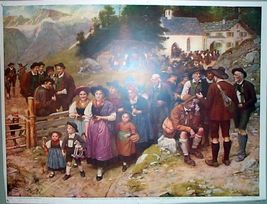 1904 Sunday Chicago American Color Print The Pilgrims - $18.99