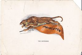 "1910 ""The Defender"" Princeton Lithographic Print - $15.99"