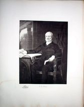 1901 Steel Engraving John Quincy Adams Limited Edition - $45.00