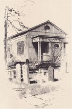 1922 St George's Churchyard Hempstead Long Island Print - $15.99