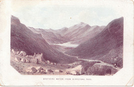 Antique View of Brother Water , Lake District England - $15.99