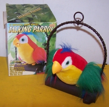 Primary image for Vintage Tattle Talk Talking Parrot Moves & Repeats What You Say