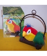 Vintage Tattle Talk Talking Parrot Moves & Repeats What You Say - £20.24 GBP
