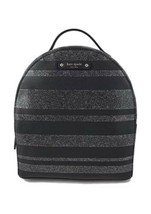 KATE SPADE Haven Lane Sammi Backpack, Black Silver Glitter Stripe, $189 - $118.79