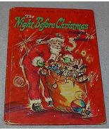 Vintage Whitman Big Tell A Tale Book The Night Before Christmas - $5.95