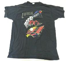 1994 Las Vegas Black Graph Short Sleeve T-Shirt Adult Men's Size XL Made in USA - $29.65