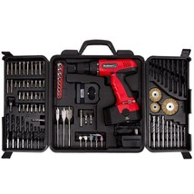 Cordless Drill Set 89 Piece Kit Power Tool Wood Masonry Grinding Carryin... - $54.99