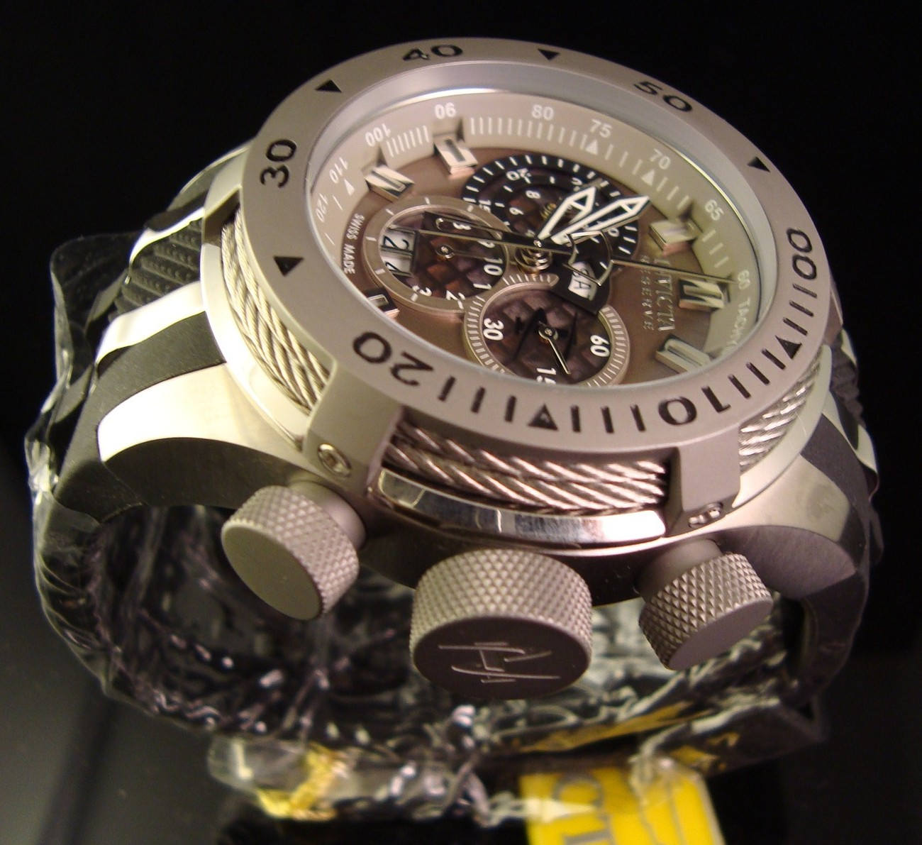 Primary image for BRAND NEW MENS INVICTA RESERVE BOLT SWISS CHRONOGRAPH W POLY BAND &MSRP $1495