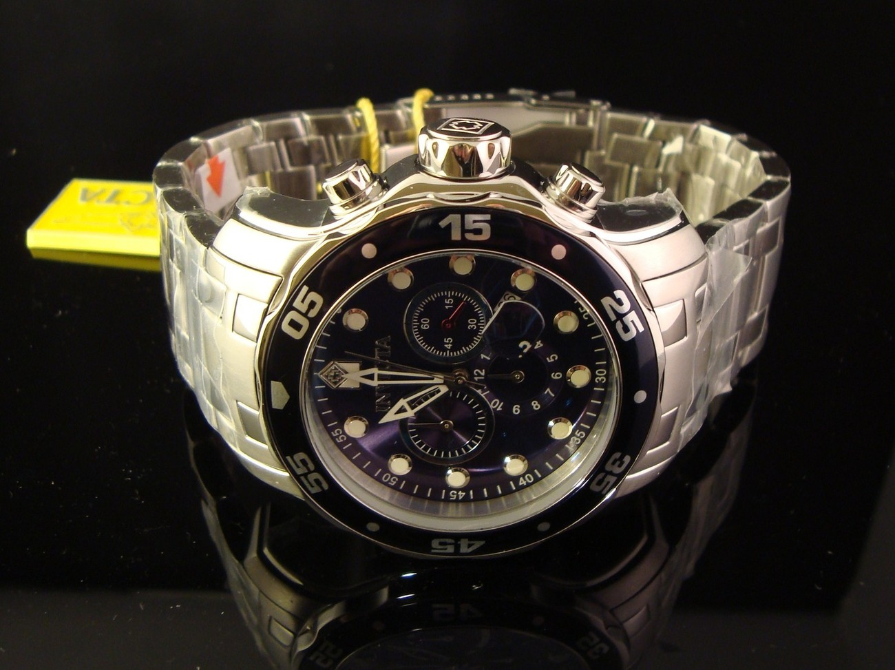 NEW MENS INVICTA MASTER OF THE OCEANS SCUBA PRO DIVER CHRONOGRAPH W- BLUE DIAL