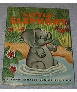 Old Vintage Junior Elf Book Little Elephant 1959 - $5.00