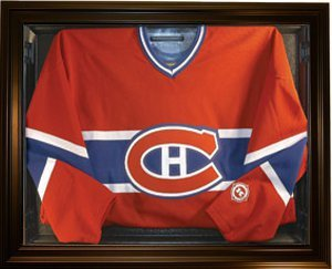 Primary image for Hockey Jersey Deluxe Half Display Case Black