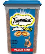 Temptations Jumbo Stuff Cat Treats, Savory Salmon Flavor, 14 oz Tub - $12.99+