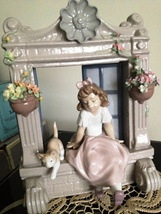 Lladro ~ Childhood Dreams # 6817 ~ Retired Beauty ~ Girl with Cat & Flowers! - $750.00