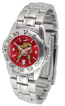 Maryland Terrapins Womens Ladies Steel Sport AnoChrome Watch - $78.38