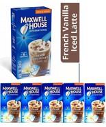 30 Maxwell House International French Vanilla Iced Latte Coffee 5 box lo... - $26.70