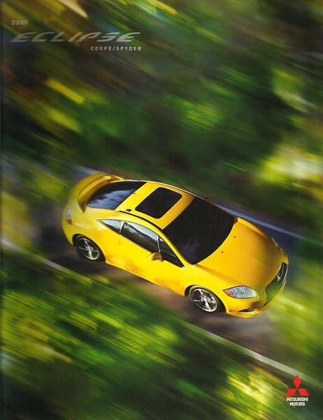 Primary image for 2009 Mitsubishi ECLIPSE sales brochure catalog 09 US Spyder