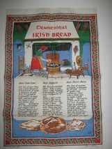 Nelson 100% Linen Tea Towel Traditional Irish Bread Recipes Made Ireland - $8.90