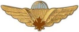 "CANADIAN PARATROOPER MAPLE LEAF WING  BIG  2 1/2""  PIN - $13.53"