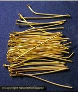 Placcato Oro Gioielli Spilli con Testa 50 3.5cm 35mm 20 Spessore Rotondo... - $1.24