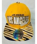 Los Angeles Snapback Baseball Hat Cap City Hunter Yellow Purple White - $7.88