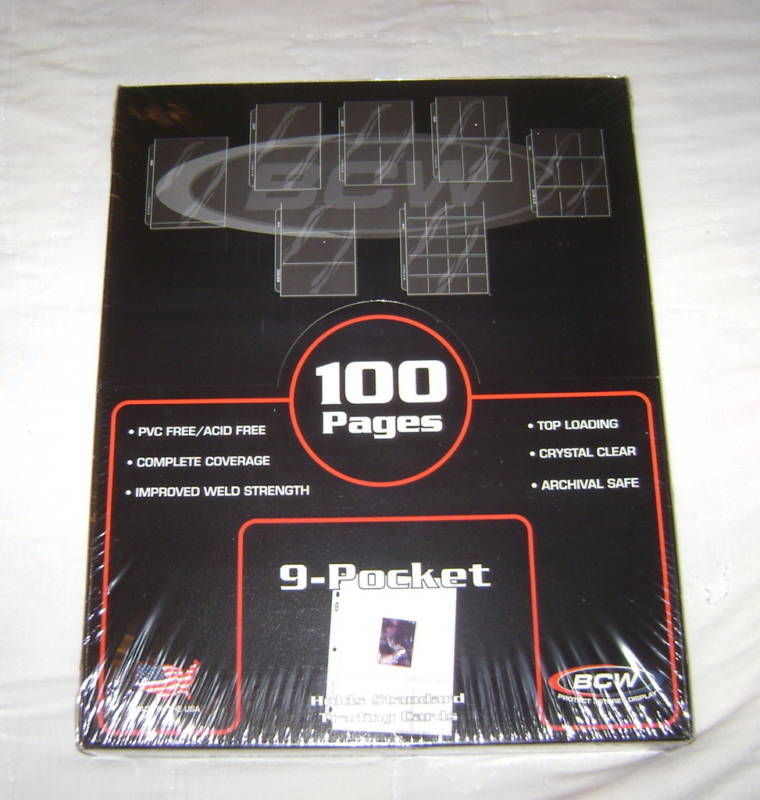 100 9-POCKET TRADING CARD GAME BINDER PAGES CCG TCG NEW